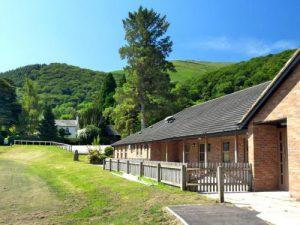 Outside Llanfoist Village Hall